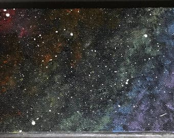 4x6 Galaxy Space Dust Canvas Painting