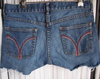 Reinvented fcuk denim cut off shorts