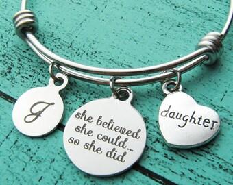 daughter gift, graduation gift, birthday gift, get well gift, daughter bracelet, encouragement gift, daughter wedding gift, going away gift