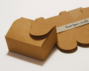 Set of 50, Kraft Cake Box, Gift Box, Favor, Gift, Party