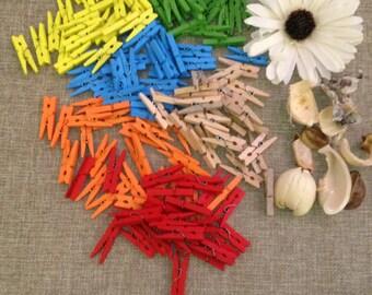 25 Mini clothespins