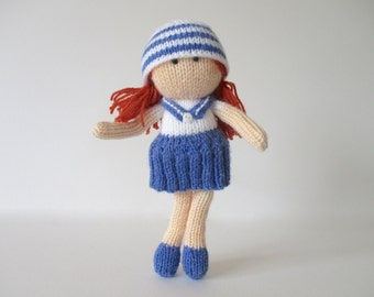 Sally Sailor toy doll knitting patterns
