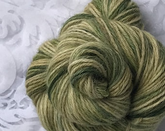 "109yds Worsted Hand Dyed Alpaca Yarn 50g - ""Kelp"""