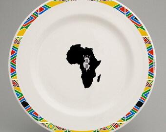 Zulu inspired dinner plate