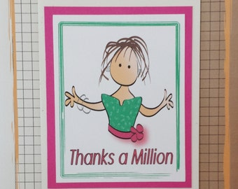 Funny Thank You Card - Fun and Snarky Thank You Card for Her - Birthday Thanks Card for Adults - Funny Thank You Note and Envelope Set