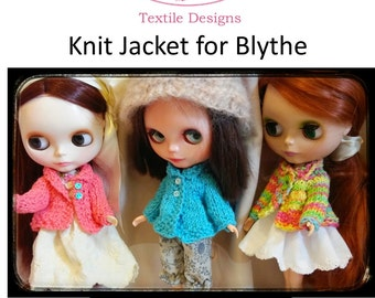 Knitting Pattern for Blythe Sweater Jacket