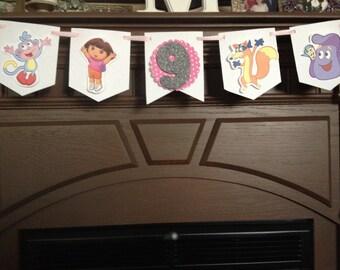 Dora The Explorer Birthday Party Mini Banner