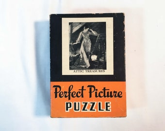 Vintage 1940s Perfect Picture Puzzle — No. 16 Attic Treasures — Over 275 Pieces