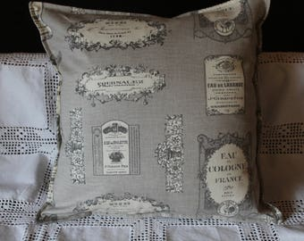 WATER of COLOGNE 44 x 44 linen and cotton Cushion cover