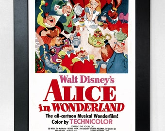 Alice in Wonderland Disney A3 Movie Poster Unframed