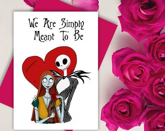 nightmare before christmas card etsy