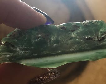 TRULITE Silica a crystal form of MALACHITE found in South Africa (Stone of knowledge and heartfelt truth) 14.5 grams dc