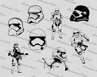 Digital SVG PNG  stormtrooper,  first order, star wars inspired, clipart, vector, silhouette, instant download