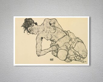 Zeichnungen by Egon Schiele  - Poster Paper, Sticker or Canvas Print / Gift Idea