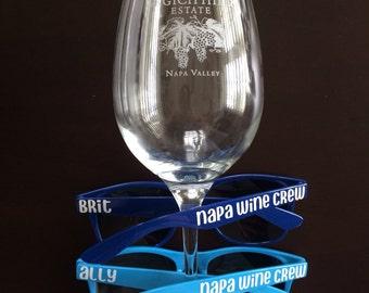 Bachelorette Sunglasses, Personalized Sunglsses, Wedding Sunglasses, Bachelorette Gift, Custom Sunglasses, Napa Trip