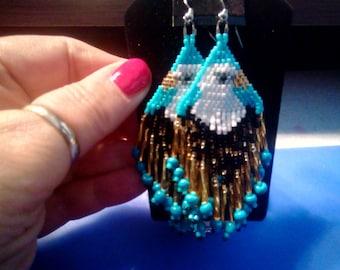 Eagle beaded earrings