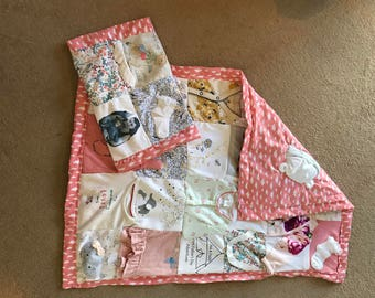 Baby clothing memory blanket