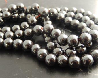 Set of 44 beads 10 mm Hematite