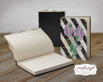 Floral D 5x7 Hardback Bound Journal -Inspirational, Word Art