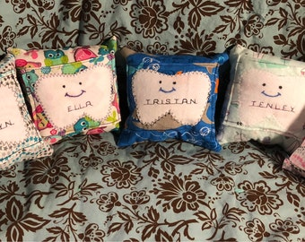 Personalized Tooth Fairy Pillows for boys and girls