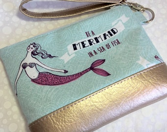 Be a Mermaid Clutches with Faux Leather Ready to Ship