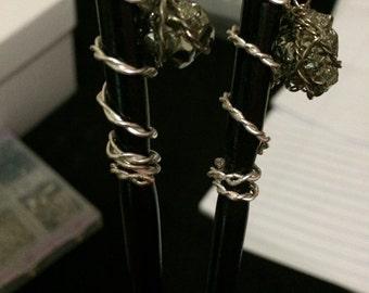 Pyrite Hair sticks