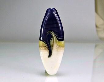 Purple Ivory Silver Lampwork Focal Bead SRA Beads