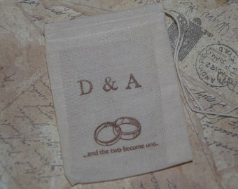 Wedding Ring Bag, Personalized Ring Bag, Ring Bearer, Ring Pillow Alternative, Rustic Wedding, Best Man Ring Bag, Ring Warming