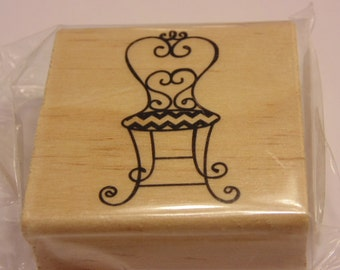 fanzy chair rubber stamp, 50 mm
