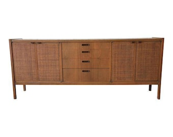 Mid-Century Modern Woven Front Credenza by Founders