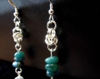 Byzantine Apatite earrings
