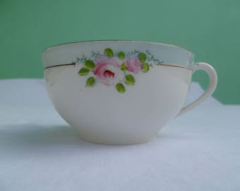 vintage hand painted noritake teacup & saucer with roses