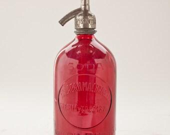 Red Vintage Seltzer Bottle