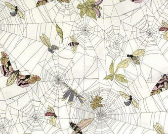 Fabric by the Yard --  Ghastlie Web in Natural