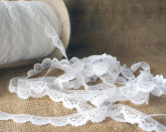 Vintage Trim White Scalloped Lace 6 yards