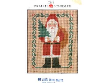 The Prairie Schooler Santa Cross Stitch Card, Christmas Cross Stitch, Prairie Schooler Christmas Pattern, Christmas, by NewYorkTreasures