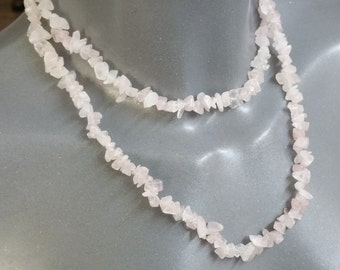 Sterling Silver Rose Quartz without closing 86 cm MK130