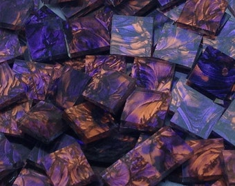 Violet Copper Van Gogh Glass Mosaic Tiles