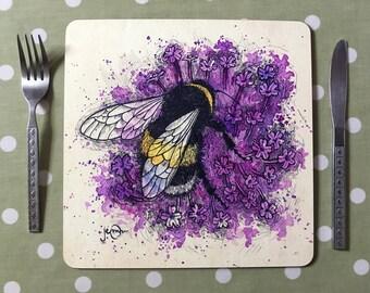 Bumblebee and Verbena Placemats / Tablemats