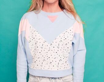 Memphis Milano pastel handmade sweatshirt