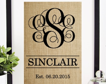 Bridal Shower Gift | Engagement Gift for Couple | Wedding Shower Decoration | Bridal Shower Decor | Monogram Table Decor | Party Decor