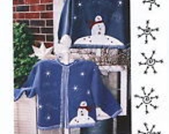 Cozy Snowman Sweatshirt by Kay Whitt for Serendipity Gifts  - Applique Sweatshirt