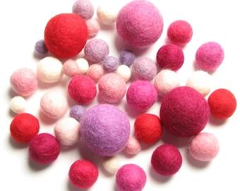Medley Pack - 40PC Valentine's Felt Balls