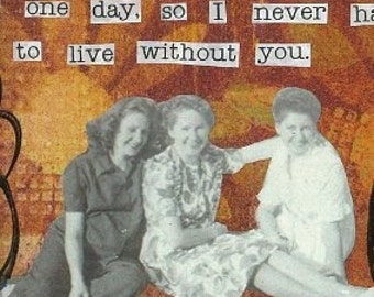 Never live without you Greeting Card