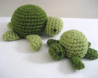 Amigurumi Crochet Sea Turtle Pattern Digital Download