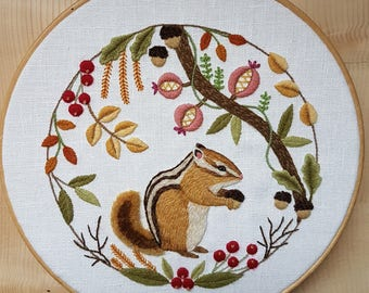 Under the Leaves Crewel Embroidery Kit