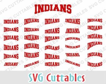 Indians svg, Indians layouts, Indians cut file, Indians mascot ,svg, eps, dxf, svg cuttables, Silhouette file, Cricut cut file, digital file