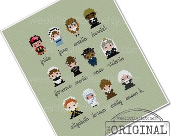 Historical Heroes Sampler - The Ladies - The *Original* Pixel People Minis - PDF Cross-stitch Pattern - INSTANT DOWNLOAD