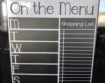 Magnetic Chalkboard Menu Grey