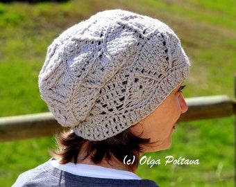 Textured Slouchy Hat Crochet Pattern, Women's Slouch Hat, Size Adult, Written Crochet Pattern